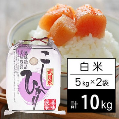 【10kg】 令和2年産 山梨県産 武川米 コシヒカリ 白米 5kgx2袋