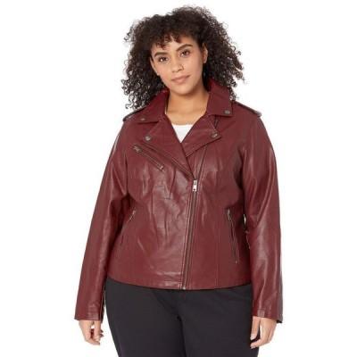 リーバイス レディース コート アウター Plus Size Classic Asymmetrical Faux Leather Motorcycle Jacket