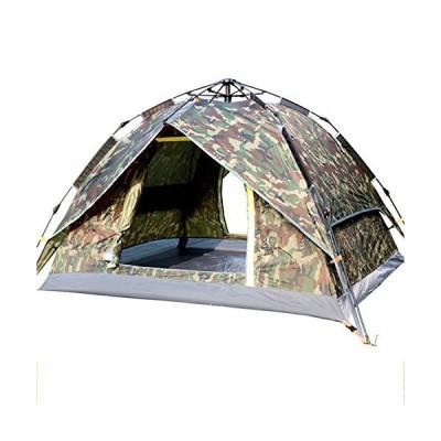 TY&WJ キャンプテント 二重層 ドームテント アウトドア テント 旅行 ハイキング 防雨 全自動 3 つの用途 3-4 人-A 200*200*1