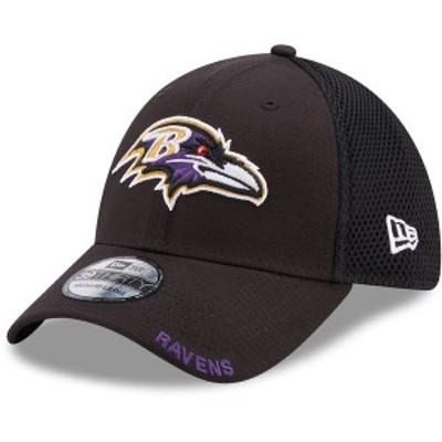 ニューエラ メンズ 帽子 アクセサリー Baltimore Ravens New Era Team Neo 39THIRTY Flex Hat Black