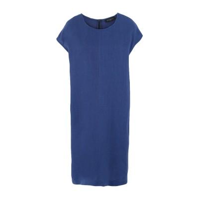 ANTONELLI ミニワンピース&ドレス ブライトブルー 42 リネン 100% ミニワンピース&ドレス