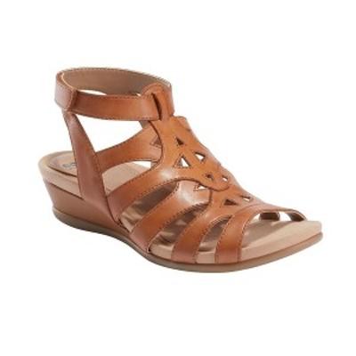 アース レディース サンダル シューズ Women's Pisa Chatham Low Wedge Sandal Sand Brown