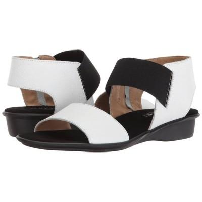 セスト メウッチ Sesto Meucci レディース ヒール シューズ・靴 Eirlys White Saratoga/Black Elastic