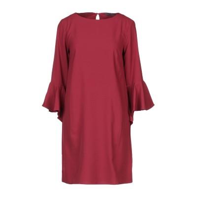 SANDRO FERRONE ミニワンピース&ドレス ボルドー S ポリエステル 100% ミニワンピース&ドレス