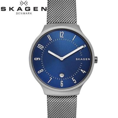 (5年保証) (クリアランス)時計 スカーゲン SKAGEN SKW6517 グレーネン 腕時計 メンズ ブルー ガンメタル メッシュ 父の日