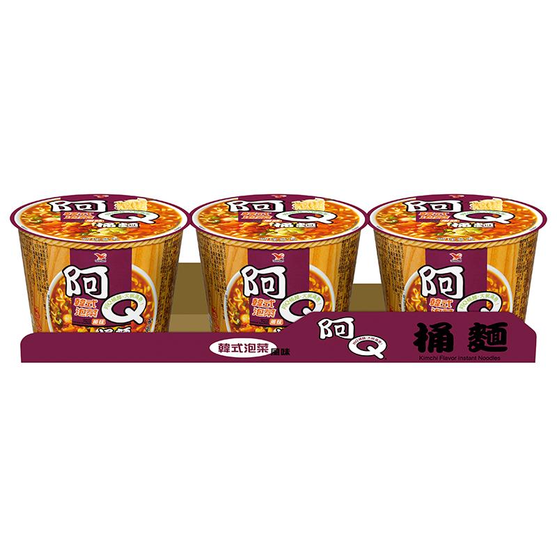 統一阿Q桶麵韓式泡菜麵 102g