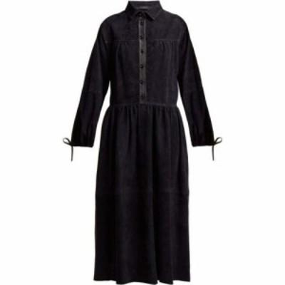 ジョゼフ Joseph レディース ワンピース ミドル丈 ワンピース・ドレス Claudia suede collared midi dress Navy