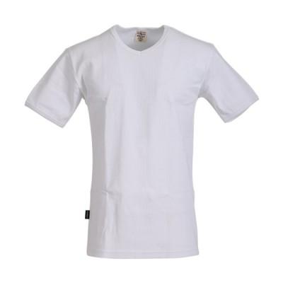 アビレックス(AVIREX) メンズ デイリー 半袖 Vネック Tシャツ DAILY S/S V-NECK T-SHIRT ホワイト 6143501 001 普段着 シンプル カジュアル インナー トップス