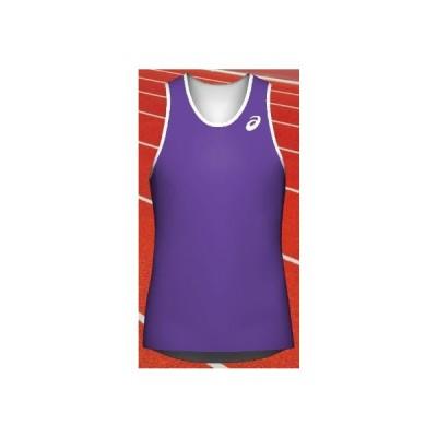 アシックス オーダーコンポ受注生産 ランニングシャツ(メンズ)レーシングエキスパートシルエット ソフトドライニット素材 PA01B-NWTFGW