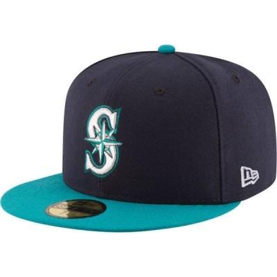 ニューエラ メンズ 帽子 アクセサリー New Era Men's Seattle Mariners 59Fifty Alternate Navy Authentic Hat