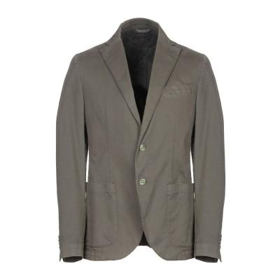 マニュエル リッツ MANUEL RITZ テーラードジャケット ミリタリーグリーン 50 コットン 97% / ポリウレタン 3% テーラードジャ