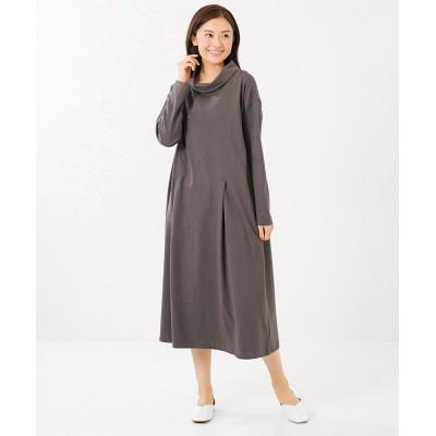 大きいサイズ 綿100%ロールネックカットソーワンピース(OtonaSMILE) ,スマイルランド, ワンピース, plus size dress