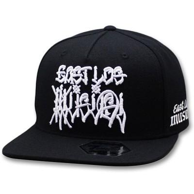 セブンユニオン キャップ 7UNION EAST LOS MUSUBI 5Panel Snapback Cap スナップバックキャップ 帽子 ブラック