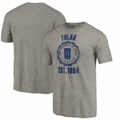 Fanatics Branded ファナティクス ブランド スポーツ用品  Fanatics Branded Tulsa Golden Hurricane Heathered Gray Old School Seal Tr