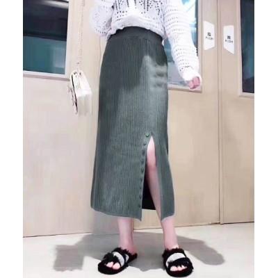 Futierland&SASA / ボタンスリットニットロングスカート WOMEN スカート > スカート