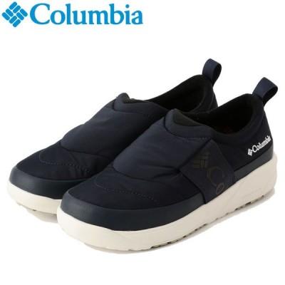 コロンビア スピンリールモック ウォータープルーフ オムニヒー YU0339-464 メンズシューズ 黒靴 黒スニーカー ブラック