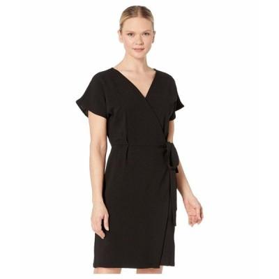 ボベー ワンピース トップス レディース Short Sleeve Crepe Wrap Dress Black