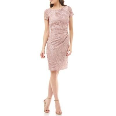 ジェイエスコレクションズ ワンピース トップス レディース Leaf Soutache Cocktail Dress Blush