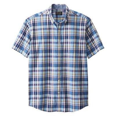 ペンドルトン シャツ メンズ トップス Pendleton Men's Madras SS Shirt Blue Multi Plaid