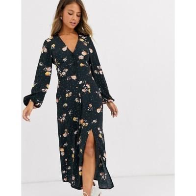 ミスセルフフリッジ レディース ワンピース トップス Miss Selfridge maxi dress in floral print