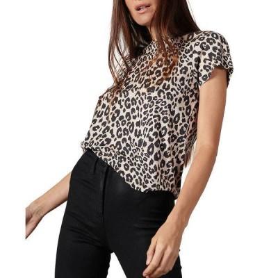 サンクチュアリー Tシャツ トップス レディース The Perfect Zebra-Print T-Shirt Classy Cat