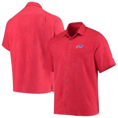 """トミーバハマ メンズ カジュアルシャツ """"Buffalo Bills"""" Tommy Bahama Al Fresco Tropics Jacquard Woven Button-Down Shirt - Red"""