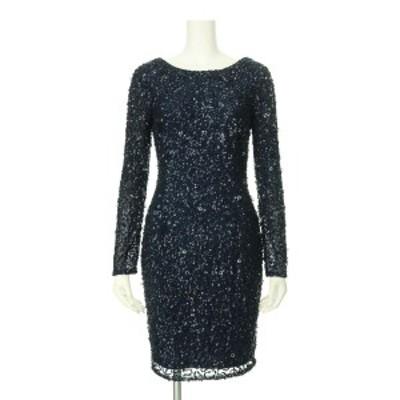 アドリアナパペル ドレス サイズS レディース 新品同様 ネイビー系 カクテルドレス 表地 裏地:ポリエステル100%【中古】20210126