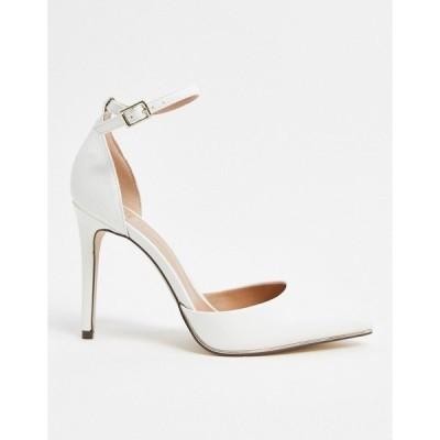 コールイットスプリング レディース サンダル シューズ Call It Spring by ALDO Iconis vegan heeled pumps with ankle strap in white White