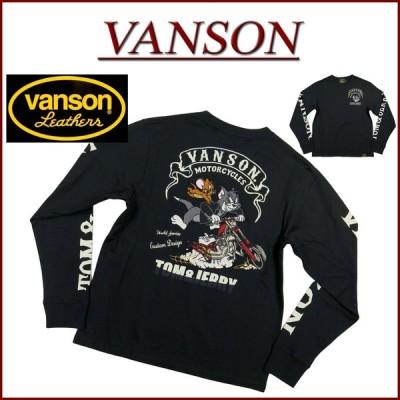 VANSON バンソン × TOM & JERRY コラボ トムとジェリー刺繍 ロンT TJV-2026