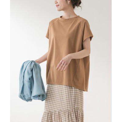 URBAN RESEARCH ROSSO WOMEN / F by ROSSO ICE SUMMERモックネックTシャツ WOMEN トップス > Tシャツ/カットソー