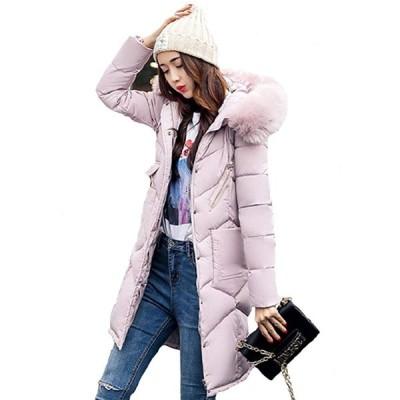 Shop マーズ中綿フード付ダウンジャケット女性用 (ピンク, L)