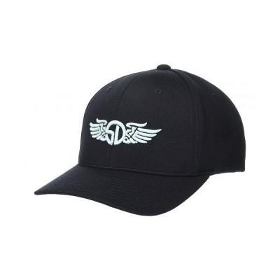 Straight Down メンズ 男性用 ファッション雑貨 小物 帽子 野球帽 キャップ SD Wings Flexfit - Black