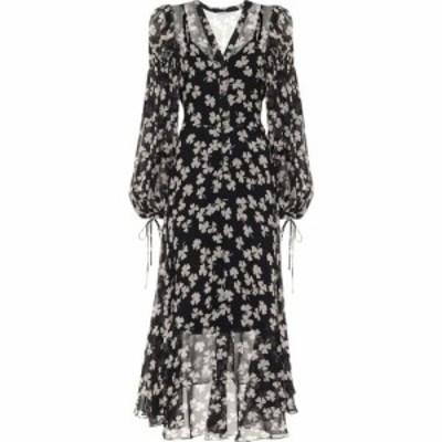 ロエベ Loewe レディース ワンピース ワンピース・ドレス Printed Silk Dress Black/Ivory