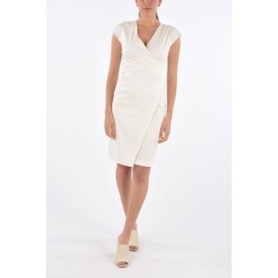 MAX MARA/マックス マーラ White レディース STUDIO Stretch Cotton CORSICA Draped Dress dk