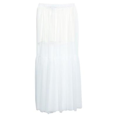 VANESSA SCOTT ロングスカート ホワイト S ポリエステル 100% ロングスカート