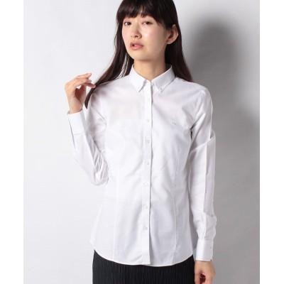 【ブルックス ブラザーズ】 ノンアイロン スーピマコットン GF ボタンダウンシャツ Tailored Fit レディース ホワイト 0 Brooks Brothers
