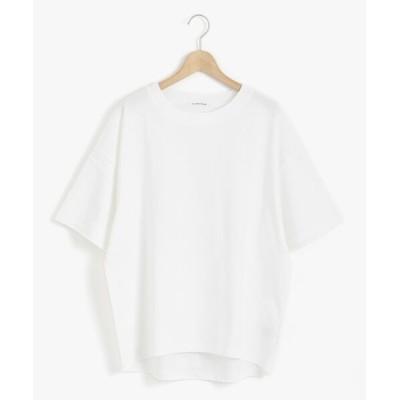 le.coeur blanc/ルクールブラン HEAVY天竺ワイドシルエットTシャツ オフ 38