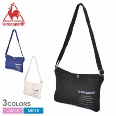 【メール便可】ルコック スポルティフ サコッシュ キャンバス バッグ かばん 黒 白 LE COQ SPORTIF QMAPJA26