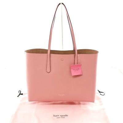 送料無料 新品 未使用 ケイトスペード トートバッグ 鞄 肩掛け レザー モリー ラージトート ポーチ PXRUA171 ピンク系 レディース