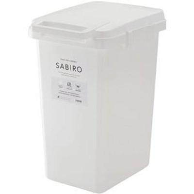 ゴミ箱/ダストボックス 【45L ホワイト】 幅34.1cm 日本製 ハンドル ふた付き 『リス SABIRO サビロ 連結ワンハンドペール』