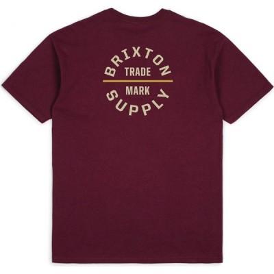 ブリクストン Brixton メンズ Tシャツ トップス Oath V Short Sleeve T-Shirt Burgundy/Khaki