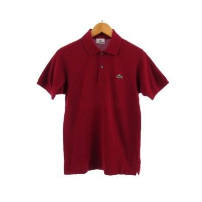 【中古】ラコステ LACOSTE ポロシャツ 半袖 鹿の子 レッド系 赤系 1 メンズ 【ベクトル 古着】