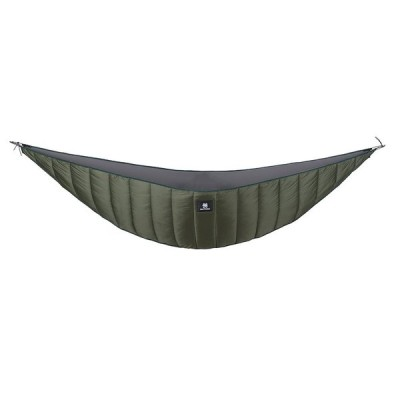 OneTigris ハンモック式寝袋 ハンモックに取り付け アンダーキルト 防寒用 キャンプ (老竹色)