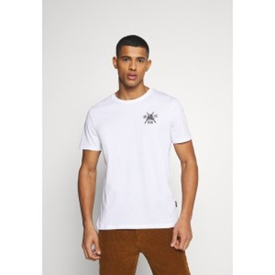 ユアターン メンズ Tシャツ トップス Print T-shirt - white white