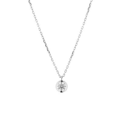 ネックレス レディース プラチナ ダイヤモンド 0.2カラット 一粒 <鑑別カード・スコープ付> ブルーム ギフト プレゼント 普段使い