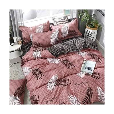 シート掛け布団カバー枕カバー4ピースベッド、純綿、快適でソフトウォッシュ可能,3,medium