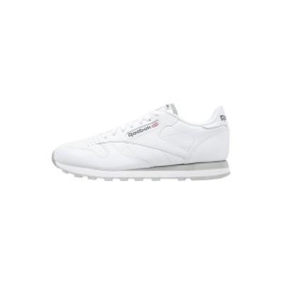 リーボック メンズ スニーカー シューズ CLASSIC LEATHER LOW-CUT DESIGN SHOES - Trainers - white/light grey white/light grey
