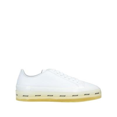 エムエスジーエム MSGM スニーカー&テニスシューズ(ローカット) ホワイト 39 革 スニーカー&テニスシューズ(ローカット)