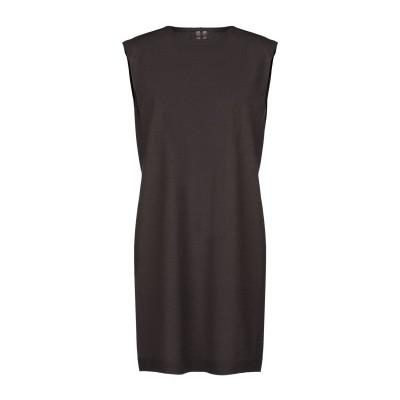 リック オウエンス RICK OWENS ミニワンピース&ドレス ダークブラウン S 93% カシミヤ 7% ポリエステル ミニワンピース&ドレス