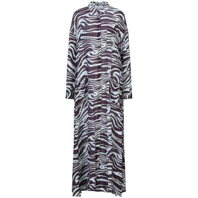 ANNA RACHELE ロングワンピース&ドレス ダークパープル 44 レーヨン 60% / シルク 40% ロングワンピース&ドレス
